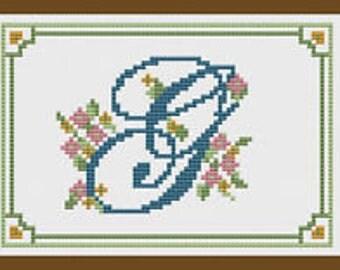 Alphabet Letter G Cross Stitch Kit by Florashell Cross Stitch Design