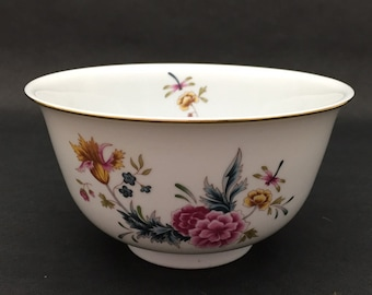 1981 Independence Day AVON Bowl Flowers and Dragonflies