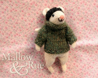 Knitted mouse | cute mouse doll | stuffed collectible mouse | OOAK soft sculpture doll