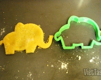 3D Printed Animal Cookie Cutter (Elephant)