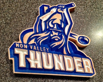 Mon Valley Thunder Hockey Sign