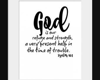 Psalms 46:1 Digital 8x10 Printable