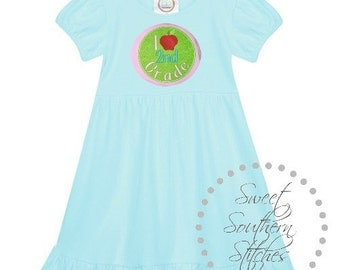 I Love 2nd Grade Back To School Dress  EMBROIDERED