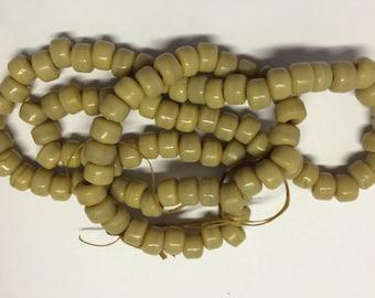 9mm Crow Pony Opaque Mocha Tan. 200 beads.