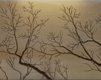 3D Carved Wall Art - Winter Trees