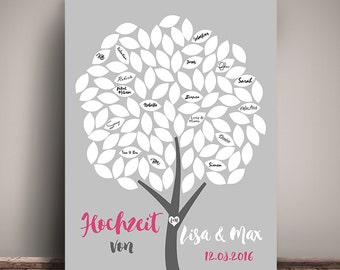Guestbook POSTER wedding personalized DIN A3