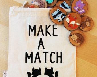 Make a match - woodland creatures memory game