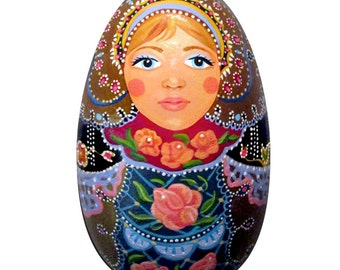 Spring Matryoshka Wood Egg