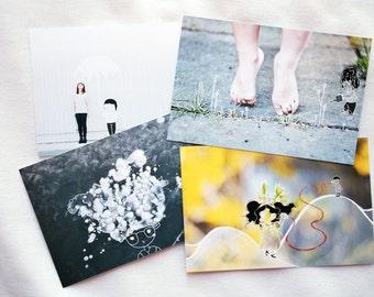 lost wor(l)ds postcards set of 4