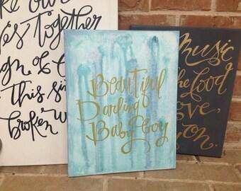 Sale! Beautiful Darling Boy 11x14 Canvas (was 45.00)