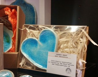 Ceramic heart in a box