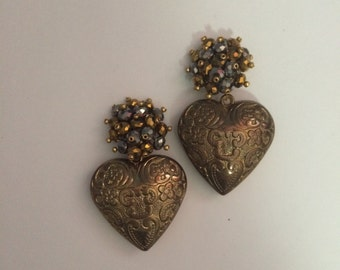 Silver Gold Earrings