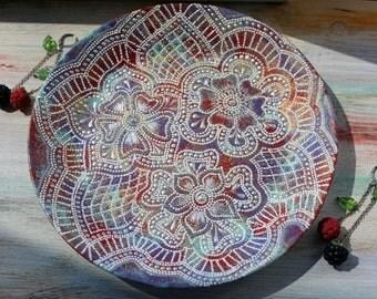 Wall plate - home decor - Wall hangings - Decorative plate - Wall decoration - Mandala