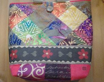 vibrant patch bag