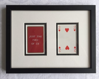 Personalised Playing Cards - Mounted and Framed