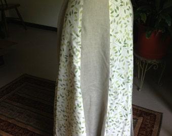Linen and Cotton Maxi Panel Skirt