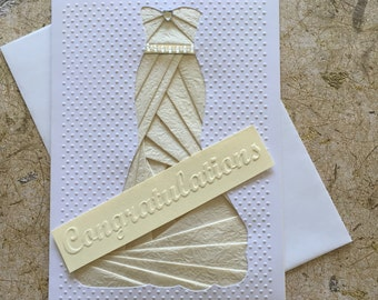 Handmade Wedding dress card