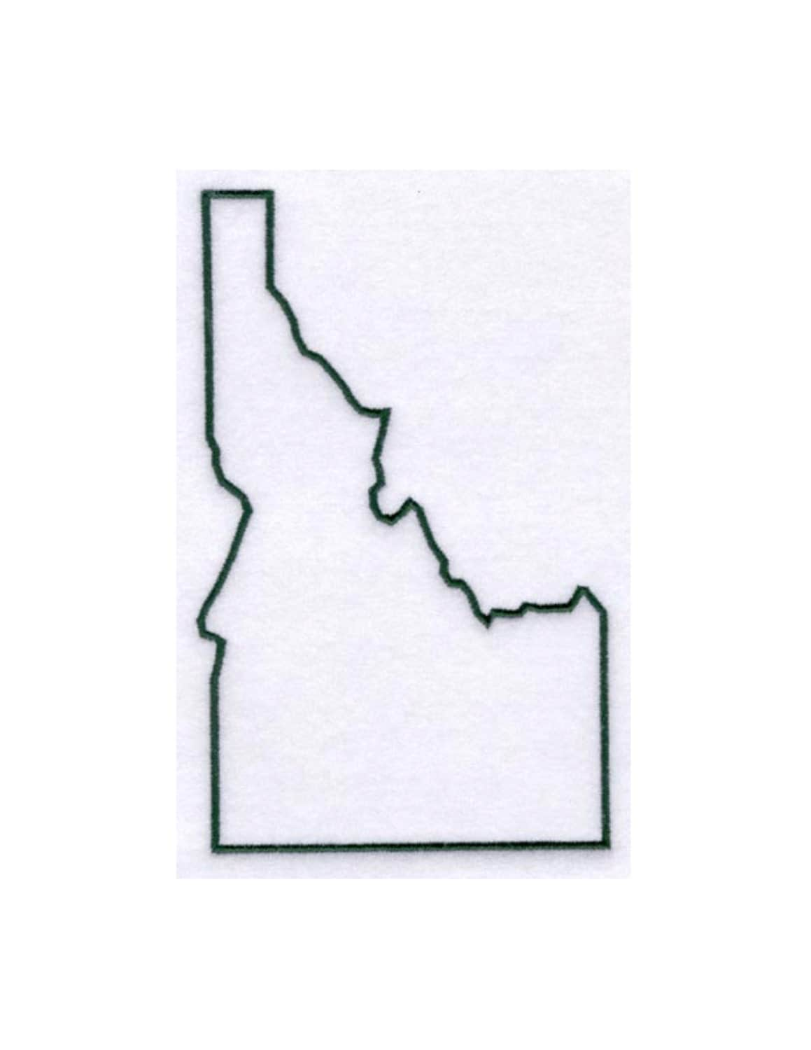 Idaho Stencil Made From 4 Ply Mat Board By Woodburnsnewengland