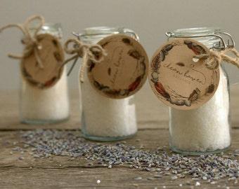 Essential Oil Bath Salts Trio - Bath Salts Set of 3 - New Mom Gift - Birthday Gift Box -  Himalayan or Sea Salt Bath - Aromatherapy Bath