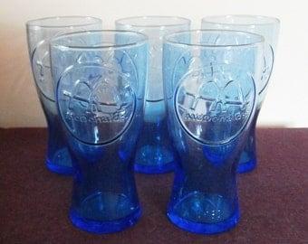 Glasses McDonald's Collectible Blue 1961 Vintage Set 6