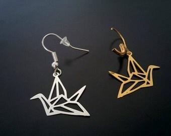 Crane celeste - earrings