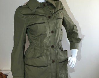 1970s Fenno Sport Khaki Green Jacket Coat Vintage 8