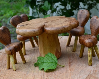 "Doll set "" Fantasia""//children's furniture// natural wood"