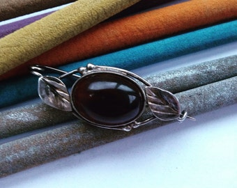 Amber Baltic Vintage Brooch