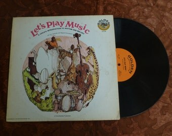 "12"" Golden Wonderland GW 206 Let's Play Music A Child's Introduction to Rhythm and Melody Record Album LP"