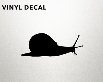 Snail Decal - Snail Vinyl Decal, Snail Decals, Snails, Laptop Decal, Laptop Sticker