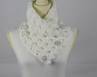 Crochet White Neck Wrap