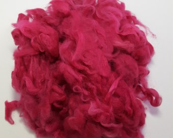 Hand dyed Angora fiber for spinning( .5 oz)