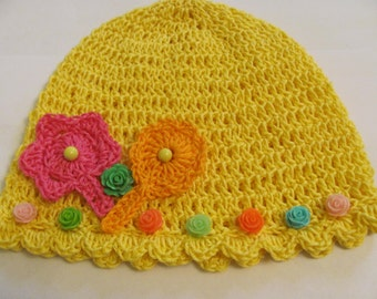 baby hat,crochet baby hat,cotton hat,jelou hat,spring accessories,