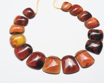 One Of A Kind Natural Indonesian Sumatra Blue Amber Top Drilled Trapezoid Shaped Necklace