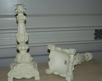 White/Cream Candle Holders Vintage