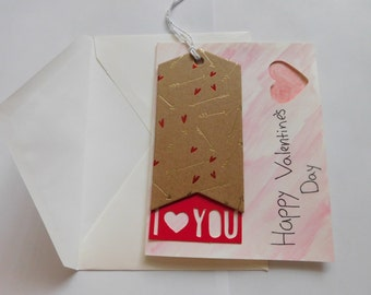 I Heart You Valentine's Card