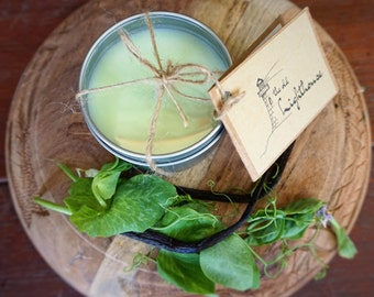 English Garden Scented Premium Natural Soy Wax Container Candle In Medium Clear Lid Metal Travel Tin - 6oz - 100g