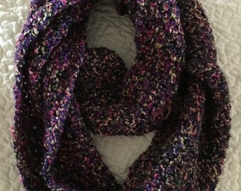 Handmade Crochet Multi-Color Infinity Scarf