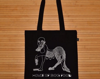 Organic Cotton Hologram Wolf Tote bag