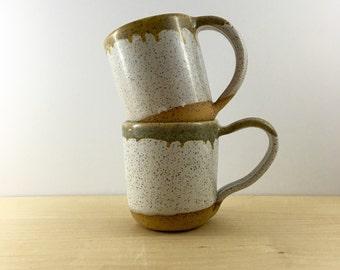 Pair of Experimental Drip Mugs