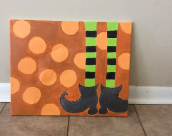 Witches Feet Canvas Painting