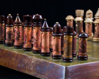Custom Handmade Steampunk Chess Set