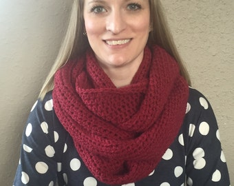 Handmade Crochet Infinity Chunky Scarf