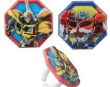 Transformers Cupcake Rings Birthday Wedding Set of 12 Cup Cake