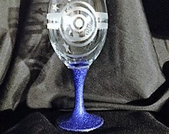 Minion inspired age specific glass