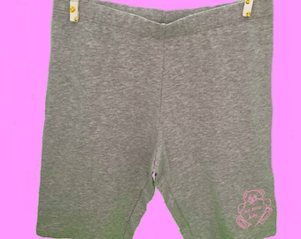 Not Your Baby Bike Shorts Grey