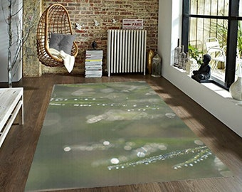 green living room rug. Green Decorative Area Rug  Abstract Bokeh Grass Floor Covering Living Room area rug Etsy
