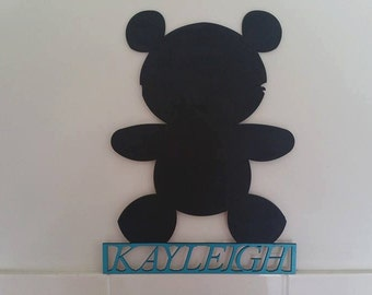 Personalised Teddy Bear Sign