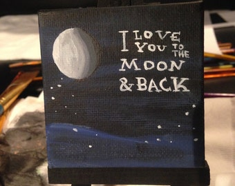 Mini Moon Painting