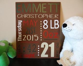 Custom Baby Name/Info Wall Plaques